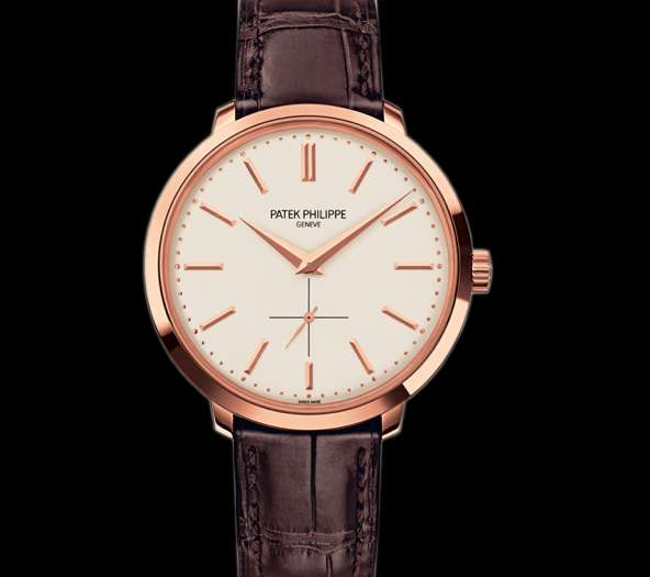 Patek Philippe Calatrava Silver Dial Brown Alligator