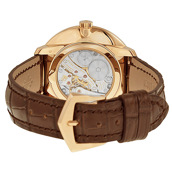 Patek Philippe Calatrava Silver Dial Brown Alligator-